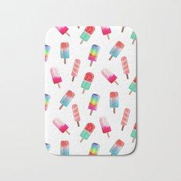 Watercolored Popsicles Bath Mat