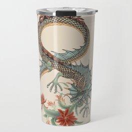 Botanical Flower Dragon 8 Travel Mug