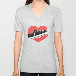 I love to wear trainers Unisex V-Neck