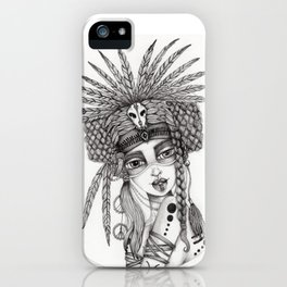JennyMannoArt Graphite Drawing/Aiyana iPhone Case