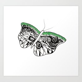 Tribal hollow Butterfly Art Print
