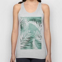 Tropical bliss - jungle green Unisex Tank Top