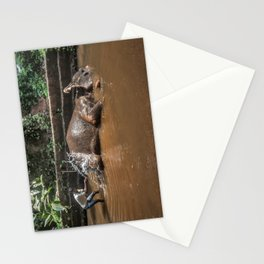 Happy elephant makes me happy Stationery Cards