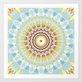 Mandala wintersun Art Print