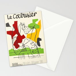 Le Corbusier - Vintage french exhibition poster Stationery Cards