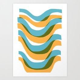 Palm Springs Wave Art Print