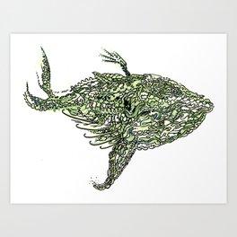 whale wings Art Print