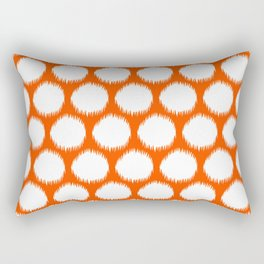 Vermillion Asian Moods Ikat Dots Rectangular Pillow