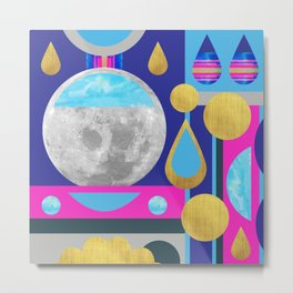 Abstractions No. 3: Moon Metal Print