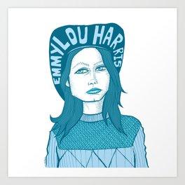 Emmylou Art Print