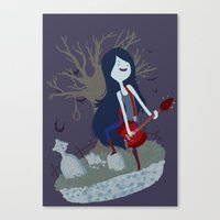 marceline Canvas Prints featuring Marceline by Tae V