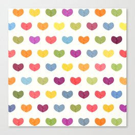 Lovely Hearts Canvas Print