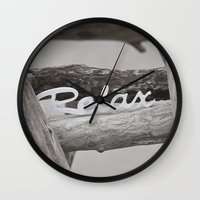 relax Wall Clocks featuring Relax by LebensART Photography