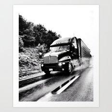 Trucking Art Print