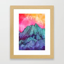 Sunset Sky Mounts Framed Art Print