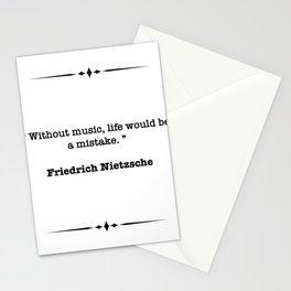 Friedrich Nietzsche Quote Stationery Cards