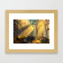Let's Take a Walk Framed Art Print