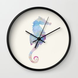 AFE Watercolor Seahorse Wall Clock