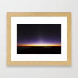Haleakala Sunrise with Night Stars Framed Art Print