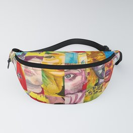 Female Faces Portrait Collage Design 1 Fanny Pack