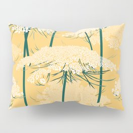 Queen Annes Lace Pattern | Yellow Pillow Sham