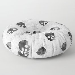 Grunge Skulls Pattern Floor Pillow