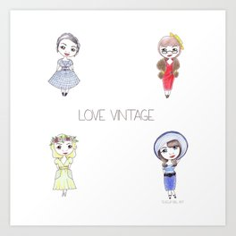 Love Vintage Art Print