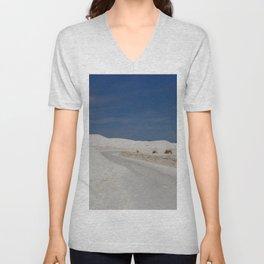 White Sand Reaches Up To The Horizon Unisex V-Neck