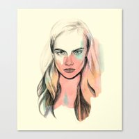 cara Canvas Prints featuring Cara by Beth Zimmerman Illustration