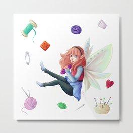 Sewing's fairy Metal Print