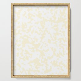 Spots - White and Cornsilk Yellow Serving Tray