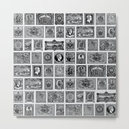 VINTAGE STAMPS Metal Print