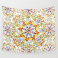 Beaux Arts Flower Crown Wall Tapestry
