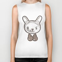 boxing Biker Tanks featuring Boxing Bunny by pencilplus