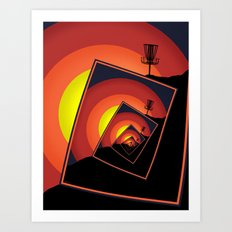 Disc Golf Spinning Basket 4 Art Print
