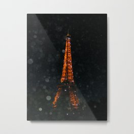 Night time Eiffel Tower Metal Print
