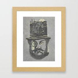 Old man hatten Framed Art Print