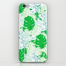 Banana Leaf in Teal iPhone Skin