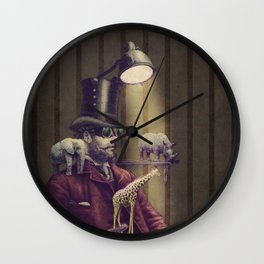 The Miniature Menagerie Wall Clock