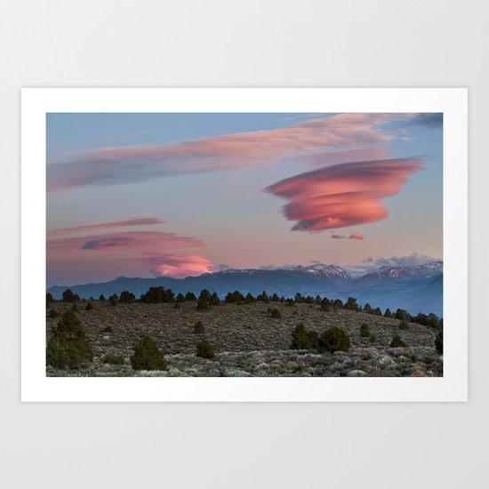 Sierra Sunset  Art Print