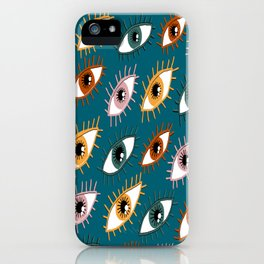 Eyes Limited Palette Pattern iPhone Case
