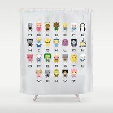 ... Ad Venture Time Alphabet Shower Curtain ...