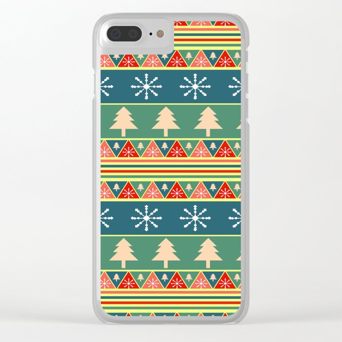 Christmas pattern II Clear iPhone Case