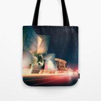 concert Tote Bags featuring Walt Disney Concert Hall by Enkel Dika