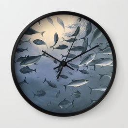School of Fish 2 Wall Clock