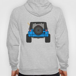 Jeep Wave Back View - Blue Jeep Hoody