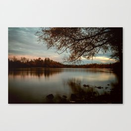 Subdued Sunset on the Sacramento River Canvas Print