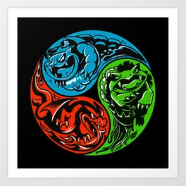 POKéMON STARTER: THREE ELEMENTS Art Print