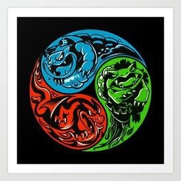 POKéMON STARTER: THREE ELEMENTS Art Print