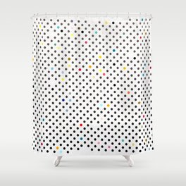 Primitive Polka Dots Shower Curtain
